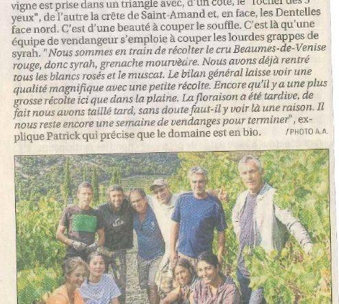 Le Domaine de Fenouillet dans les journaux locaux